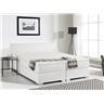 Kontinentalsäng vit - skinnsäng - dubbelsäng - säng 160x200 cm - PRESIDENT