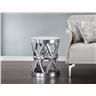 Soffbord silver - sidobord - aluminium - MARRAKESH