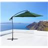 Parasoll grön - trädgårdsparasoll - UV resistent solskydd av metall - ASTI II