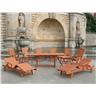 Trädgårdsmöbelset i akacia - trädgårdsmöbel - bord - 2 solstolar - 6 stolar - fi