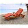 Solstol med dynor i terrakotta - däckstol - trädgårdsmöbel - TOSCANA