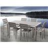 Trädgårdsmöbelset i aluminium grå - trädgårdsmöbel - matgrupp - bord - 6 stolar