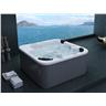 Utespa silver - utomhusspa - spabad - badtunna - bubbelbadkar - massagebadkar -