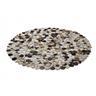 Handgjord patchwork matta grå - ø150 cm - rund matta - vintage - SORGUN