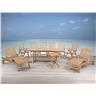 Trädgårdsmöbelset i akacia - trädgårdsmöbel - matgrupp - bord - 6 stolar - 2 sol