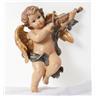 Kerub änglepojke för vägg, med violin fiol ängel present julklapp jul