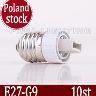 10ST Lampsockel converter adapter, E27 till G9 Poland Stock!!