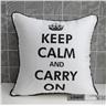 T19 Digitaltryck fåtöljer soffan säng bil kuddefodral Keep calm and carry REA