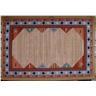 matta med gummerad halkskyddad baksida mått 190 x 130 cm
