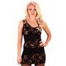 Modern klänning i leopard med spets för club eller hemma fest Small/Medium 404