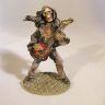 Rockande skelett med gitarr