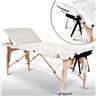 Fabriksny Profesionell Massagebänk 3-Zon med Väska Vit