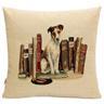 B63 Linne dekorativa kuddfodral för soffor sängar möbler bil Hund med böcke RE