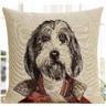 B36 Linne dekorativa kuddfodral för soffor sängar möbler bil med Hund Genera
