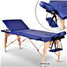 Fabriksny Profesionell Massagebänk 3-Zon med Väska Blå