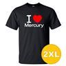 T-shirt Mercury Svart herr tshirt 2XL