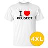 T-shirt Peugeot Vit herr tshirt 4XL