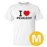 T-shirt Peugeot Vit herr tshirt M