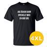 T-shirt Jag Älskar Djur Svart herr tshirt 4XL