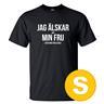 T-shirt Jag Älskar Min Fru Golf Svart herr tshirt S