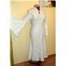 Nunotovat bröllopsklänning brudklänning vinterbröllop