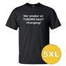 T-shirt När Smakar En Tuborg Bäst Svart herr tshirt 5XL