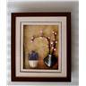 En tavla fixas med ramen, glas, passepartout kartong och bakbräda, 43x37 cm