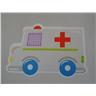 2st Ambulanser Väggdekor Stickers- Storlek 10cm- Modell 4826