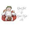 *L-GH* Jul tavla God Jul och Gott Nytt År