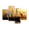 Kanvas tavla, segelbåt ingår 4 delar, 110x85 cm