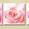 Kanvas tavla,blommor ingår 3 delar, 160x50 cm