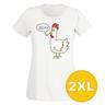 T-shirt Rebell Kyckling Vit Dam tshirt XXL