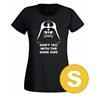 T-shirt Darth Vader Don't Fuck With The Dark Side Svart Dam tshirt S