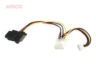 StarTech.com LP4 to SATA Power Cable Adapter with Floppy Power - strömadapter