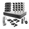 16 Kanals H.264 CCTV DVR Kit (med 16 f?rger Vattent?t Utomhuskamera)
