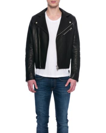 Gibson black leather jacket 2AC146