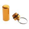NY! Nyckelring,medicinkapsel,akut,reserv,daglig Golden