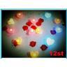 NEW! 12st! Colorful Hjärta Style Ljushållare,ljusstake,värmeljus