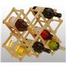 NY! 10 BOTTLE FOLDING WINE RACK STAND HOLDER WOODEN STORAGE