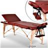 Fabriksny Profesionell Massagebänk 3-Zon med Väska Röd