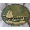 dörrskylt Välkommen med segelbåt,handmålad,oanvänd