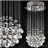 Kristallkrona 50 x 25 cm Kristallampa Kristall Kula Lampa Ny