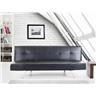 Bäddsoffa svart - soffa - bäddsoffa - soffa i konstskinn - soffa i konstläder -