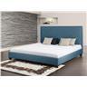 Säng mörkgrå - dubbelsäng - stoppad säng med ribotten - 180x200 - MARSEILLE