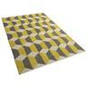 Matta grå-gul - 80x150 cm - golvmatta - polyester - ANTALYA