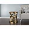 Soffbord guld - sidobord - aluminium - MARRAKESH