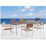 Trädgårdsmöbelset i teak och stål - bord - 6 stolar - VIAREGGIO