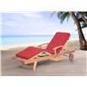 Solstol med dynor i terrakotta - däckstol - trädgårdsmöbel - JAVA