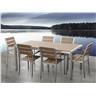 Trädgårdsmöbelset i aluminium brun - trädgårdsmöbel - matgrupp - bord - 6 stolar