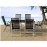 Trädgårdsmöbelset i aluminium - trädgårdsmöbel - matgrupp - bord - 6 stolar - CA